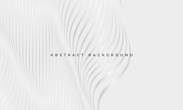Abstracte luxe gloeiende zilveren vloeiende golvende lijnen geometrische elegantie achtergrond