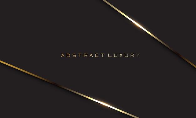 Abstracte luxe gouden lijn schaduw overlappende achtergrond
