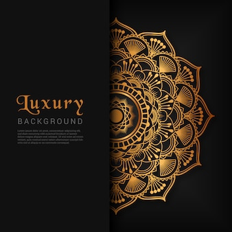 Abstracte luxe mandala achtergrond