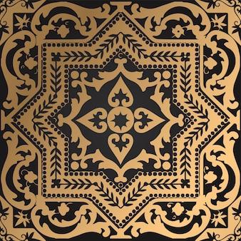Abstracte luxe mooie decoratieve vector backgroundpattern islamitische gouden arabische ornament