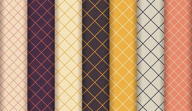 Abstracte luxe naadloze patroon ingesteld
