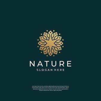 Abstracte luxe ornament bloem logo ontwerp inspiratie