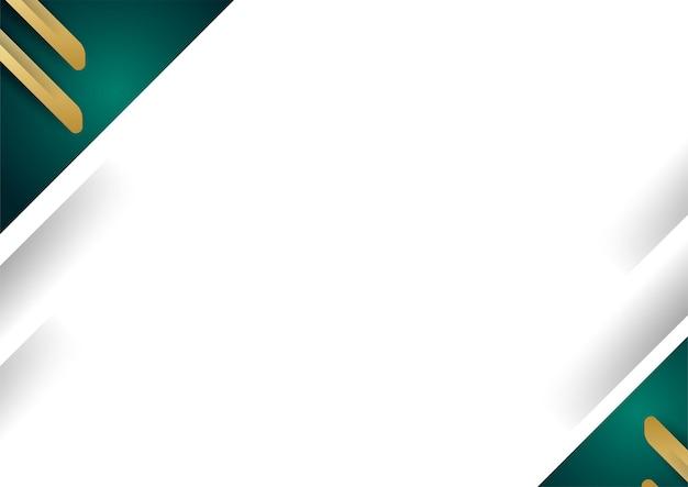 Abstracte luxe witte achtergrond overlap laag met gouden en groene vormen decoratie-elementen. geschikt voor presentatieachtergrond, banner, webbestemmingspagina, ui, flyer, banner