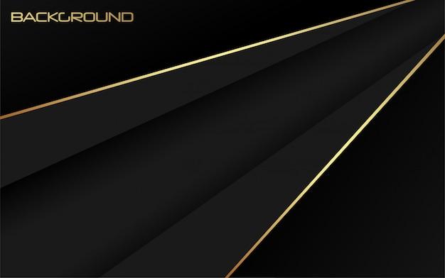 Abstracte luxe zwart met gouden achtergrond