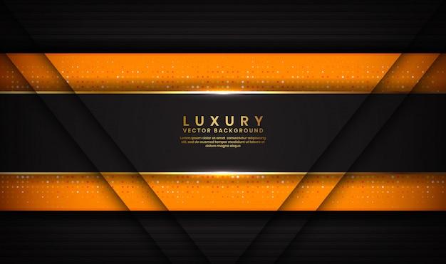 Abstracte luxe zwarte en oranje achtergrond