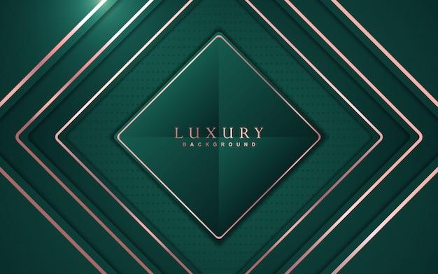 Abstracte luxeachtergrond met groene en roze gouden elementendecoratie
