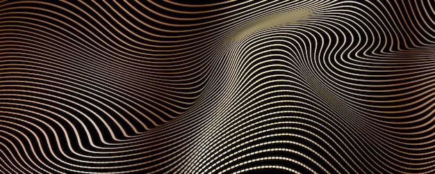 Abstracte luxeachtergrond van gouden lijnen
