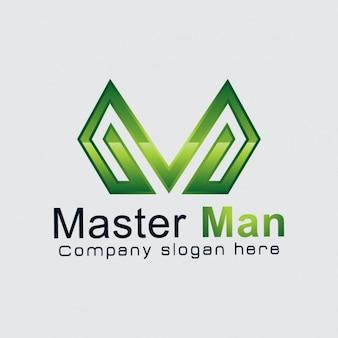 Abstracte m logo