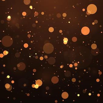 Abstracte magische bokeh lichten effect achtergrond glitter en elegant voor kerstmis
