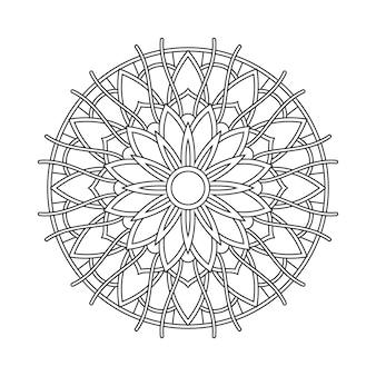 Abstracte mandala arabesque kleurende pagina boekillustratie. t-shirt . bloemen wallpaper achtergrond