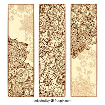 Abstracte mandala banners