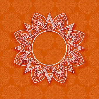 Abstracte mandala bloemenachtergrond