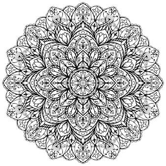 Abstracte mandala sjabloon voor het kleuren van de fotoboekpagina