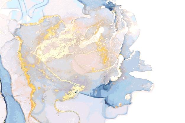 Abstracte marmeren textuur in alcoholinkt oosterse techniek met glitter