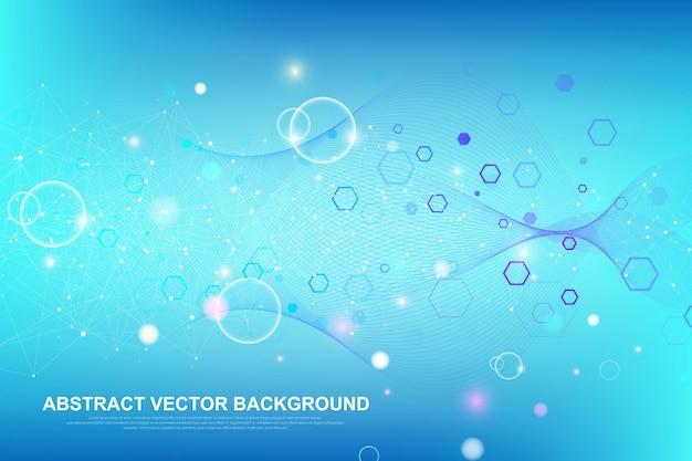 Abstracte medische achtergrond dna-onderzoek concept vectorillustratie