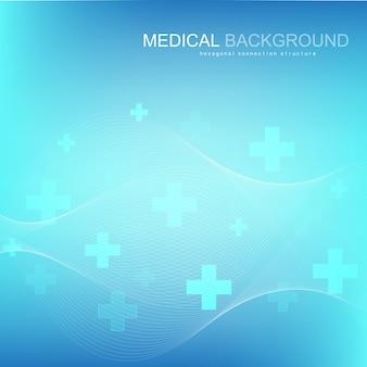 Abstracte medische achtergrond dna-onderzoeksmolecuul, genetica, genoom, dna-ketting vectorillustratie