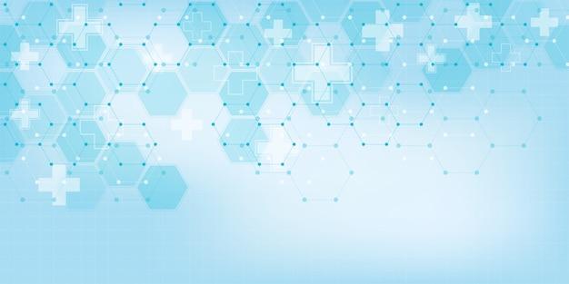 Abstracte medische achtergrond met zeshoeken patroon