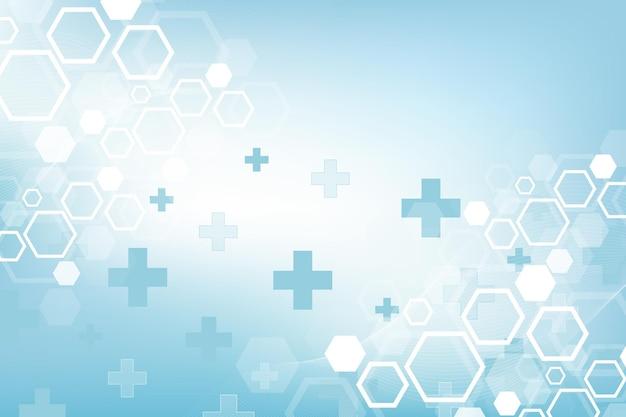 Abstracte medische achtergrond met zeshoeken vectorillustratie