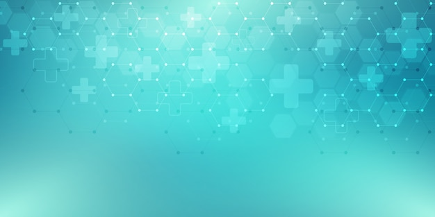 Abstracte medische achtergrond met zeshoekenpatroon