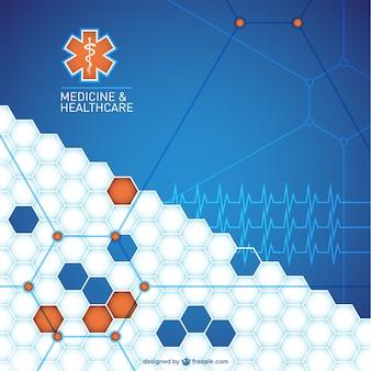 Abstracte medische achtergrond ontwerp