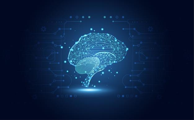 Abstracte medische gezondheidswetenschappen bestaan uit digitale hersenen