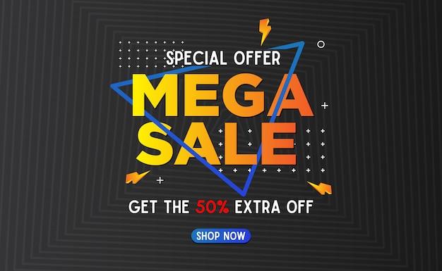 Abstracte mega verkoop banner malplaatje achtergrond