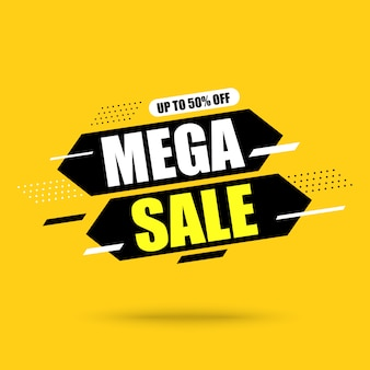 Abstracte mega verkoop banner