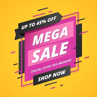 Abstracte mega verkoop promotie banner