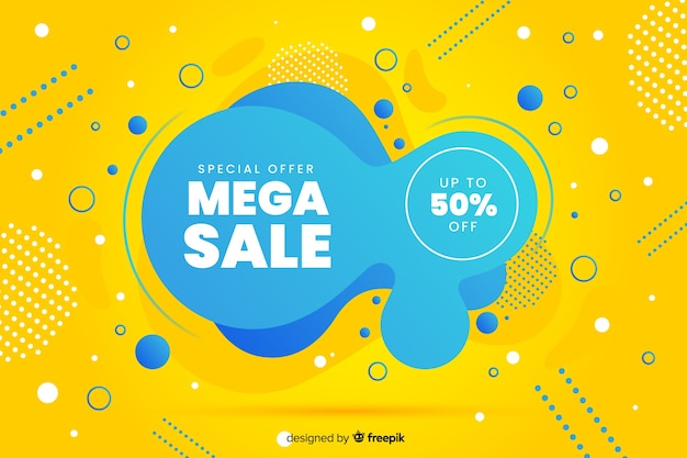 Abstracte mega verkoop vloeibare achtergrond