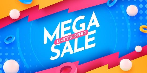Abstracte mega-verkoopbanner