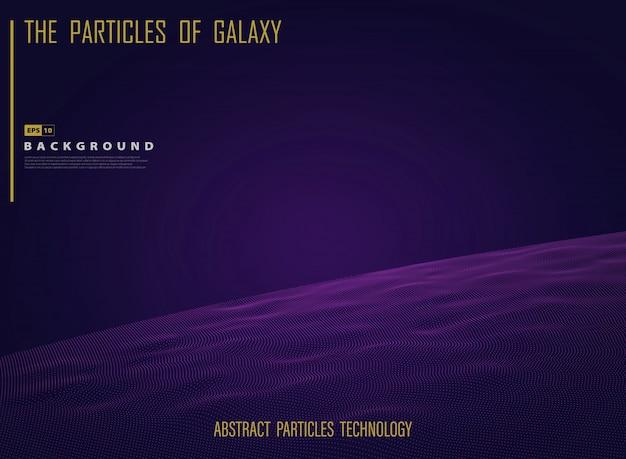 Abstracte melkwegruimte uit heelal in nachtlichtpresentatie.