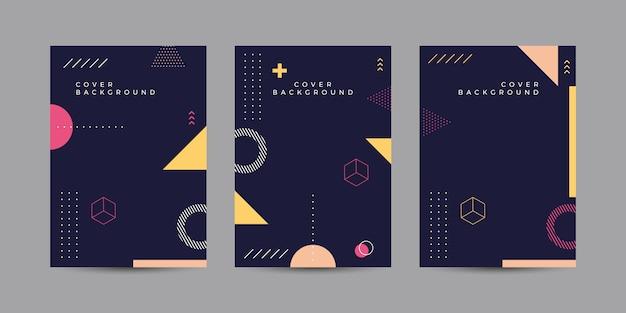 Abstracte memphis cover-collectie