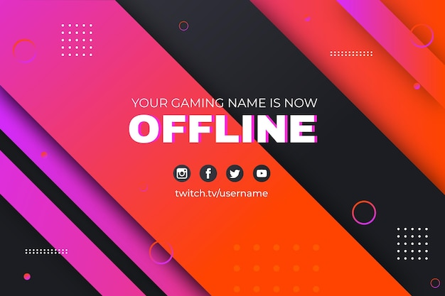 Abstracte memphis offline twitch banner