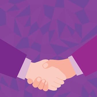 Abstracte mensen die deals accepteren, afbeelding met onderhandelingsovereenkomst, mensen die elkaar begrijpen, verschillen accepteren, vredesaanbod verzegelde deal