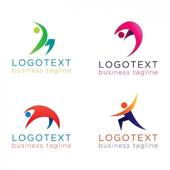 Abstracte mensen logos