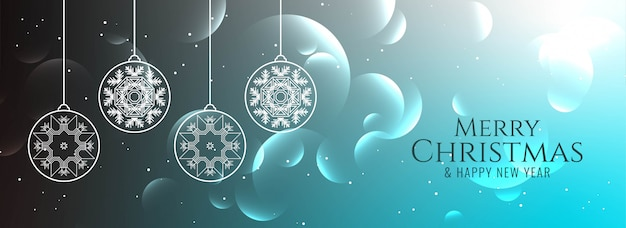 Abstracte merry christmas decoratieve glanzende banner