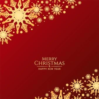 Abstracte merry christmas rode achtergrond met sneeuwvlokken