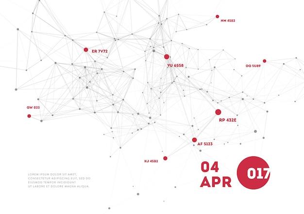 Abstracte mesh achtergrond met cirkels, lijnen en driehoekige vormen ontwerp lay-out voor uw bedrijf.