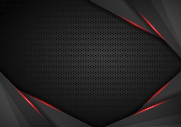 Abstracte metaal moderne rode zwarte van de het innovatieconcept van het kaderontwerp de lay-outachtergrond.