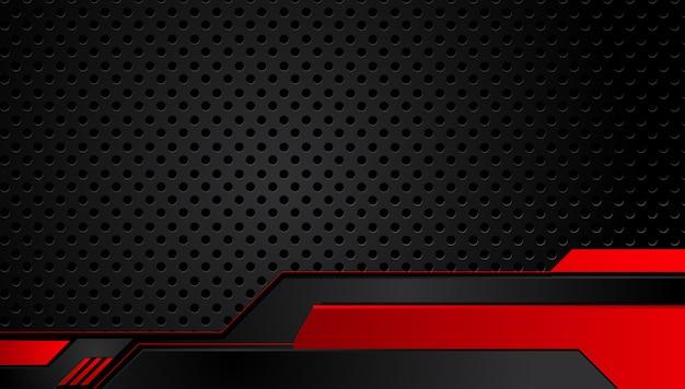 Abstracte metaal rode zwarte achtergrond met contraststrepen