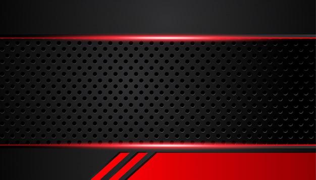 Abstracte metaal rode zwarte achtergrond met contraststrepen.