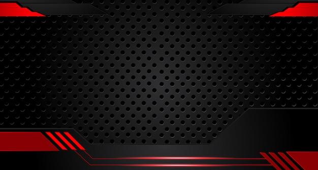 Abstracte metaal rode zwarte van het ontwerptechnologie van de kaderlay-out het conceptenachtergrond van de innovatie