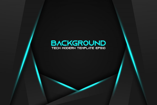 Abstracte metaalblauwe zwarte zwarte moderne technologie van de kaderlay-out