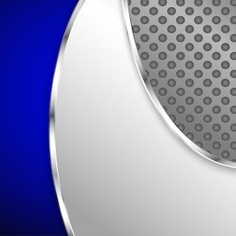 Abstracte metalen achtergrond met blauwe element. vector illustratie.