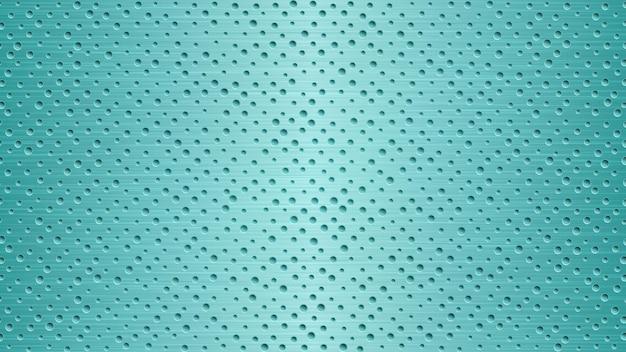 Abstracte metalen achtergrond met gaten in lichtblauwe kleuren