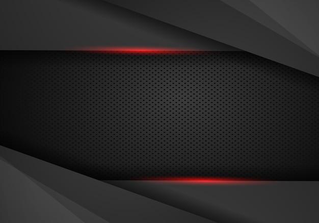 Abstracte metalen moderne rood zwart frame ontwerp innovatie concept lay-out achtergrond.