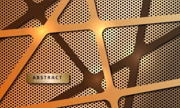 Abstracte metalen zeshoekige achtergrond