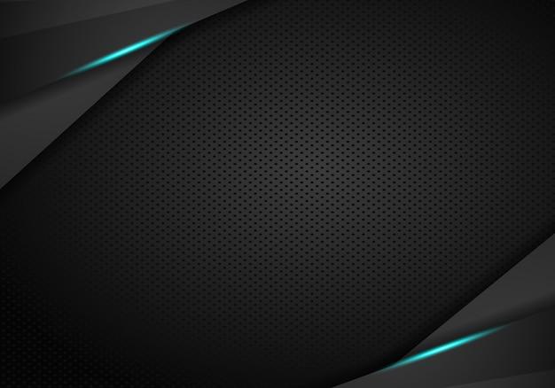 Abstracte metalen zwarte blauwe frame sport ontwerp concept innovatie achtergrond