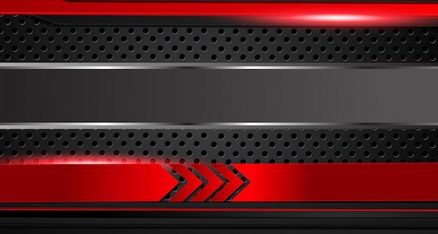 Abstracte metallic rood zwart frame lay-out moderne tech ontwerpsjabloon achtergrond