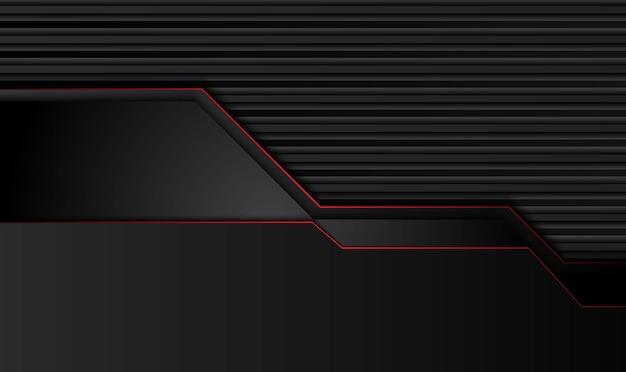 Abstracte metallic rood zwart frame lay-out ontwerp tech innovatie concept achtergrond. vector.
